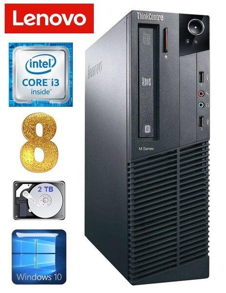 Lauaarvuti Lenovo ThinkCentre M82 SFF i3-2120 8GB 2TB WIN10
