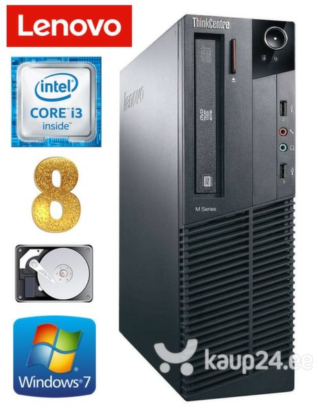Lauaarvuti Lenovo ThinkCentre M82 SFF i3-2120 8GB 250GB WIN7Pro