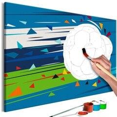 Tee ise - maal lõuendil - Löök ja värav! 60x40 cm hind ja info | Maalid numbri järgi | kaup24.ee