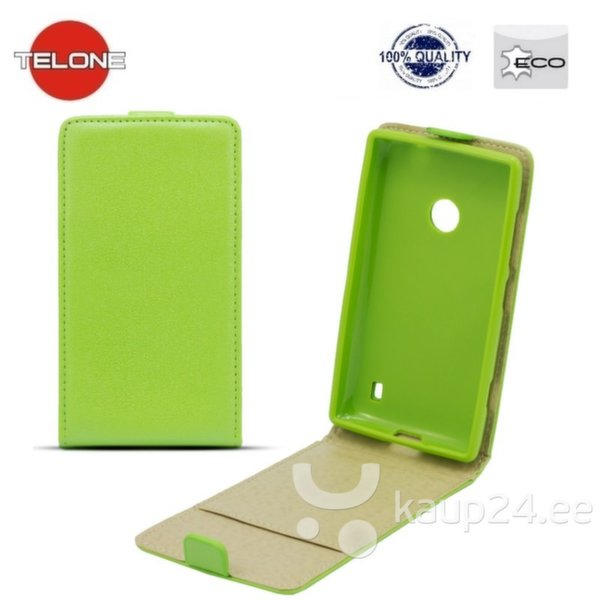 Kaitseümbris Telone Shine Pocket Slim Flip / Apple iPhone 4, 4S, Roheline