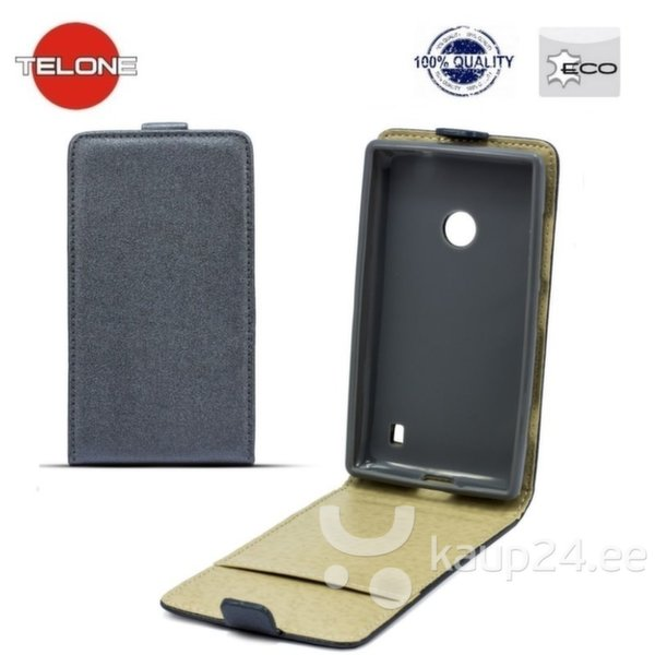 Kaitseümbris Telone Shine Pocket Slim Flip / HTC Desire 620, must цена и информация | Mobiili ümbrised, kaaned | kaup24.ee