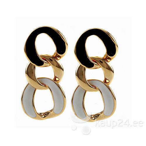 Naiste kõrvarõngad must kuldne valge