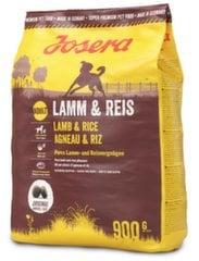 Josera erineva aktiivsusega koertele Lamb & Rice, 900 g