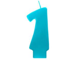 Sünnipäevaküünlad Number 1, tumesinine, 6,5 cm, 30 tk.