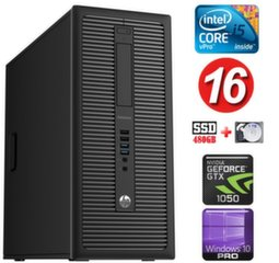 HP 600 G1 MT I5-4590 16GB 480SSD+1TB GTX1050 2GB WIN10Pro