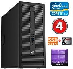 HP 600 G1 MT I5-4590 4GB 240SSD+500GB WIN10Pro