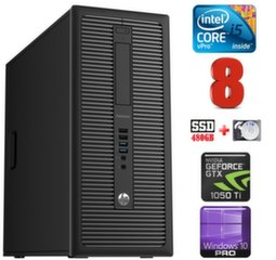 HP 600 G1 MT I5-4590 8GB 480SSD+1TB GTX1050Ti 4GB WIN10Pro