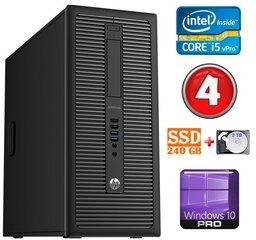 HP 600 G1 MT I5-4590S 4GB 240SSD+2TB WIN10Pro
