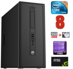 HP 600 G1 MT I5-4590S 8GB 480SSD+2TB GTX1660 6GB WIN10Pro