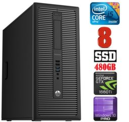 HP 600 G1 MT I5-4590S 8GB 480SSD GTX1660Ti 6GB WIN10Pro