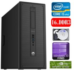 HP 600 G1 MT I5-4590S 16GB 2TB GT1030 2GB WIN10Pro