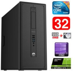 HP 600 G1 MT I5-4590S 32GB 480SSD+1TB GTX1650 4GB WIN10Pro