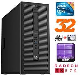HP 600 G1 MT I5-4590S 32GB 240SSD+1TB RX570 8GB WIN10Pro