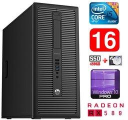 HP 600 G1 MT I5-4590S 16GB 480SSD+1TB RX580 8GB WIN10Pro