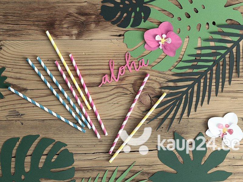 Бумажные декорации Aloha, розовые, 5x12,5 см, 1 упаковка/6 штук