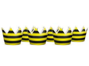 Pidulikud kroonid Bee, 10 cm (1 pakk / 6 tk)