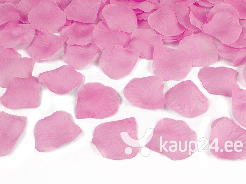 Конфетти пушка Лепестки роз, розового цвета, 60 см, 1 коробка/36 шт