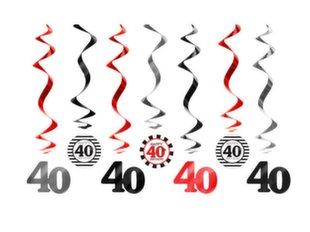 Riputatavad dekoratsioonid Forty Mix 60 cm (1 karp/50 tk) (1 pakk/7 tk)