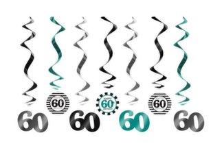 Riputatavad kaunistused Sixty Mix 60 cm (1 karp/50 tk) (1pakk/7tk)