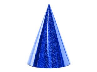 Holograafilised peomütsid, 10 cm (1 karp / 50 pakki) (1 pakk /6 tk) Sinine