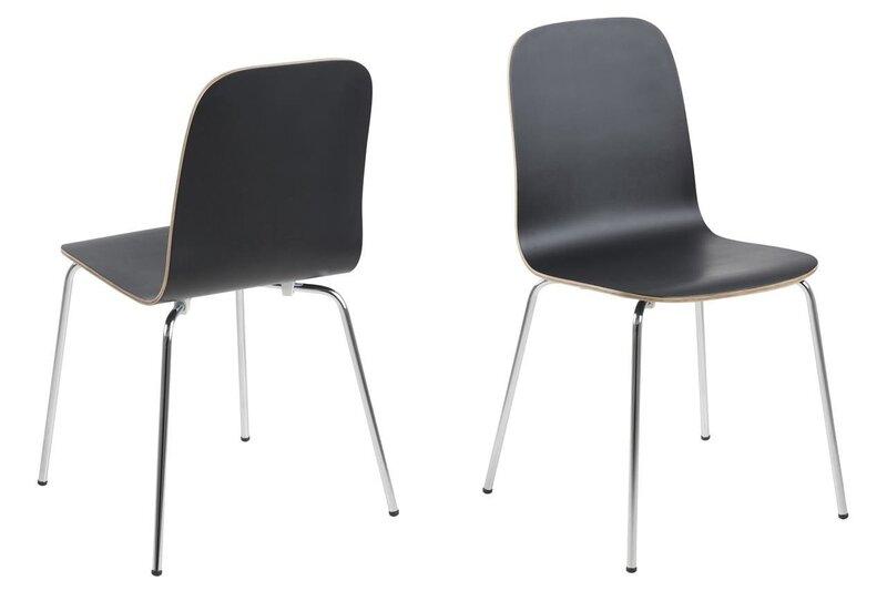 Набор их 4-х стульев Actona Bjoorn, черный