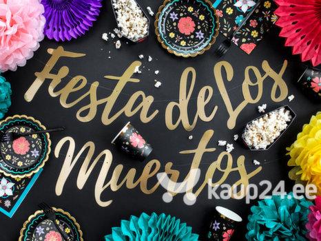 Гирлянда Dia de Los Muertos Fiesta de Los Muertos, золотого цвета, 22x160 см, 1 упаковка/1 шт