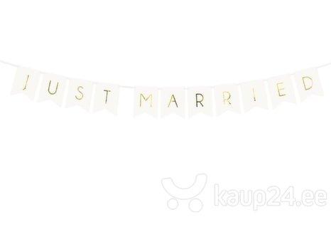 Гирлянда Just Married, белая, 15x155 см, 1 упаковка/1 штука
