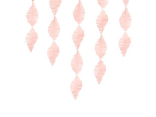 Rippuv pabervanik Crepe Light Pink 3 m