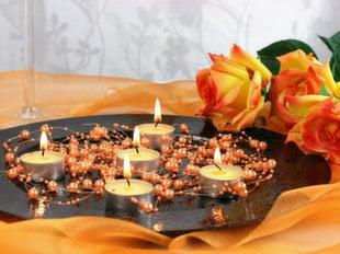 Жемчужная гирлянда Orange 1,3 м (1 упаковка/ 5 шт)