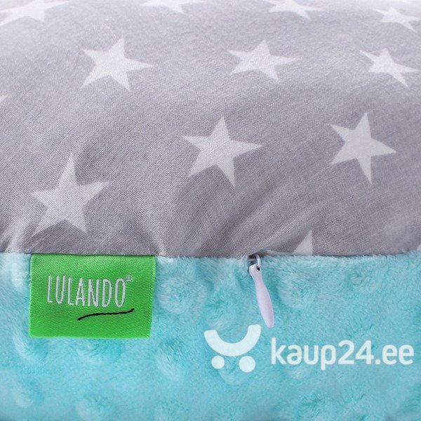 Imetamispadi LULANDO Minky, Mint / Gray stars on white