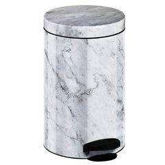 Prügikast Selsey New Line 14l, valge marmori värvi