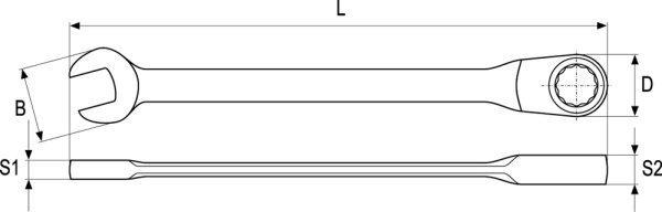 Kombineeritud mutrivõti Yato 13mm (YT-1656)