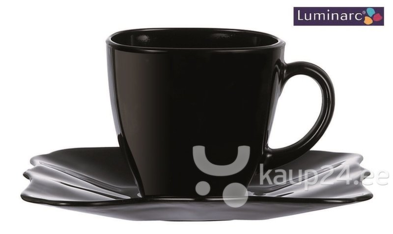 Tasside komplekt Luminarc Authentic Black, 12-osaline цена и информация | Klaasid, tassid ja kannud | kaup24.ee