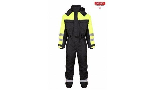 Kombinesoon Pesso Frost, must/kollane цена и информация | Tööriided | kaup24.ee