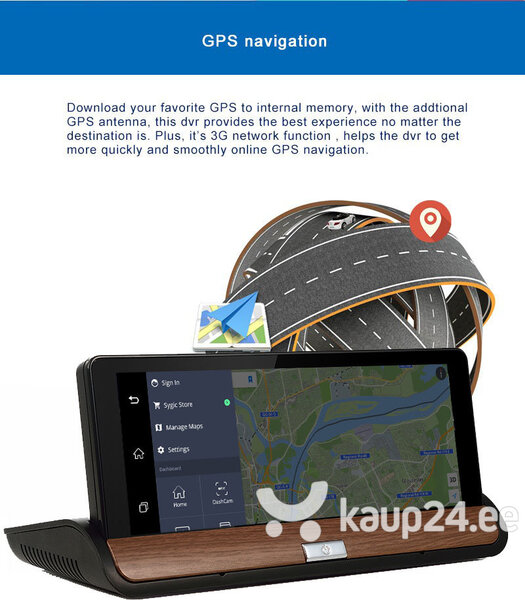 """IHEX - HYBRID VI 7"""", ANDROID, 3G, GPS, TV, WIFI, DVR NAVIGATSIOONISÜSTEEM"""