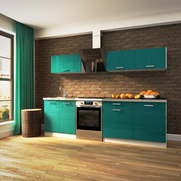 Köögimööbli komplekt Pamela läikiv türkiissinine val