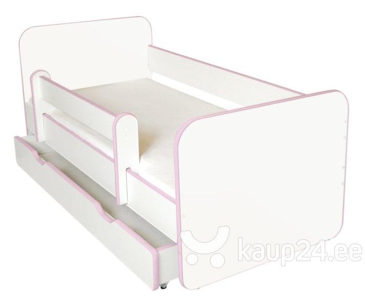 Voodi Ami R koos madratsi 140x70cm, voodipesukasti ja eemaldatava äärega hind ja info | Lastetoamööbel | kaup24.ee