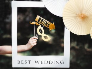 Selfie raam Best Wedding 50 x 59,5 cm