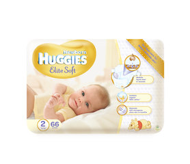 Mähkmed HUGGIES Elite soft, 2 suurus, 66tk.