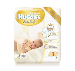 Mähkmed HUGGIES Elite soft, 2 suurus, 88tk hind ja info | Pudeli soojenduskotid | kaup24.ee