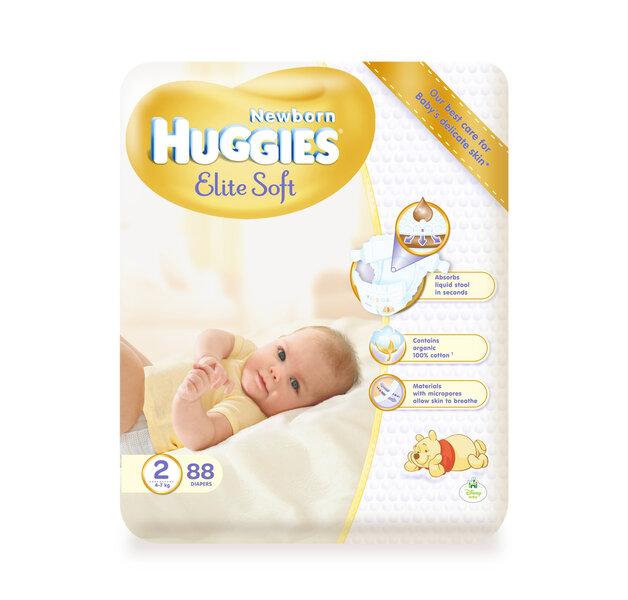 Подгузники HUGGIES Elite soft, 2 размер, 88 шт. цена и информация | Mähkmed ja mähkimislinad | kaup24.ee