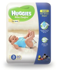 Mähkmed poistele HUGGIES Ultra Comfort Boys, 3 suurus, 80tk.