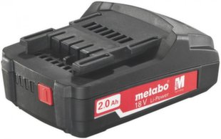 Aku 18 V 2,0 Ah Li-ion Power Compact, Metabo hind ja info | Aku 18 V 2,0 Ah Li-ion Power Compact, Metabo | kaup24.ee