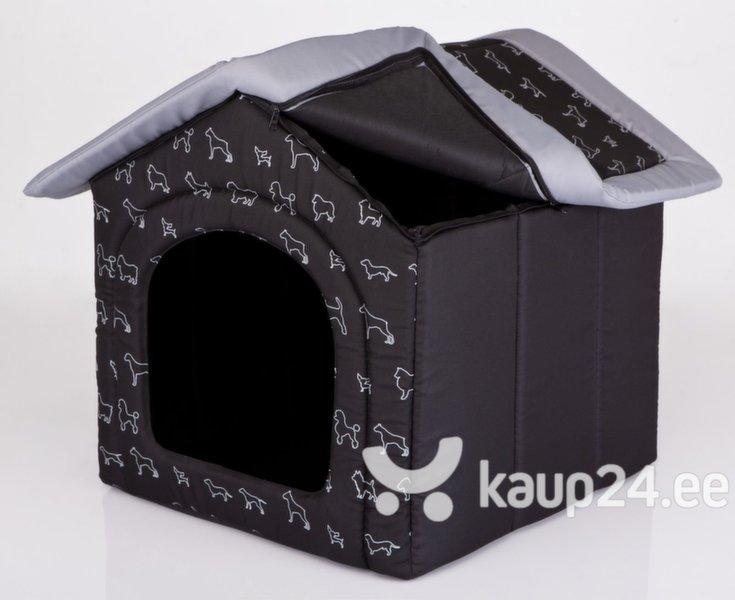 Maja-pesa Hobbydog R4 kutsikad, 60x55x60 cm, must