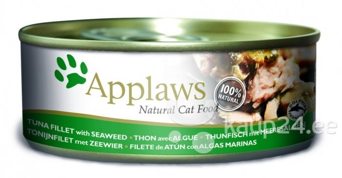 Applaws Cat Tuna Fillet & Seaweed, 70 g цена и информация | Konservid kassidele | kaup24.ee