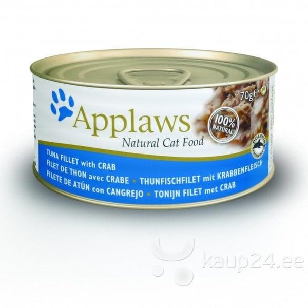 Applaws Cat Tuna & Crab, 70 g цена и информация | Konservid kassidele | kaup24.ee