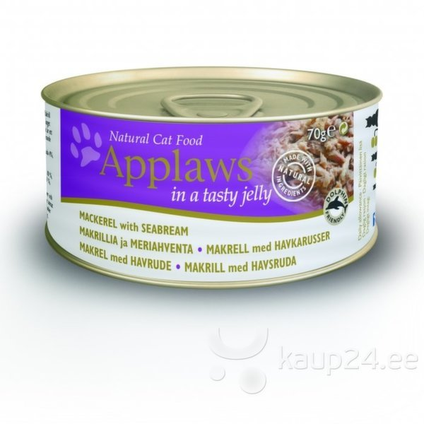 Applaws Jelly Mackerel & Seabream, 70 g