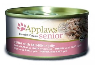 Applaws Senior Cat Tuna with Salmon in jelly, 70 g