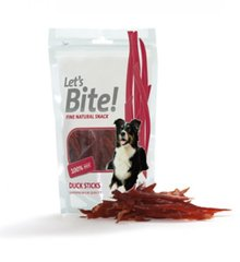 Maiustus koertele Let's Bite Dog Duck Sticks 80g