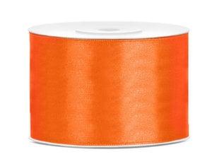 Satiinpael, oranž, 50 mm/25 m, 1 tk/25 m hind ja info | Kingituste pakendid | kaup24.ee